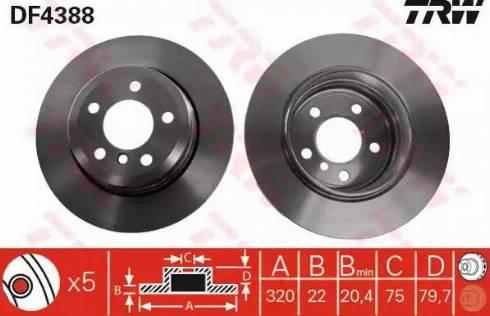 TRW DF4388 - Bremžu diski interparts.lv