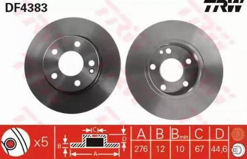 TRW DF4383 - Bremžu diski interparts.lv