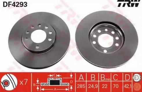 TRW DF4293 - Bremžu diski interparts.lv