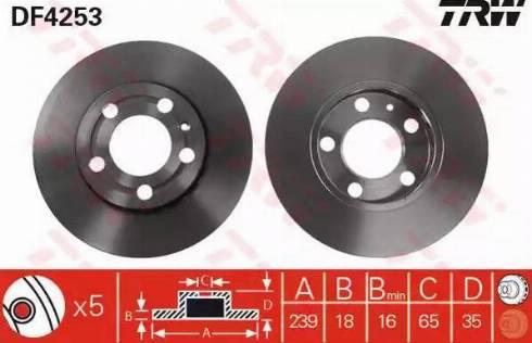 TRW DF4253 - Bremžu diski interparts.lv