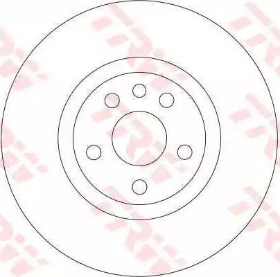 TRW DF4257 - Bremžu diski interparts.lv