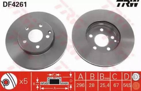 TRW DF4261 - Bremžu diski interparts.lv