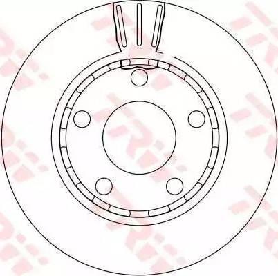 TRW DF4210 - Bremžu diski interparts.lv