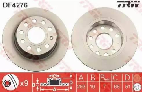 TRW DF4276 - Bremžu diski interparts.lv