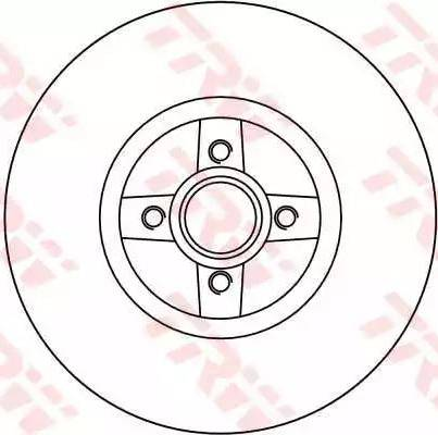 TRW DF4272 - Bremžu diski interparts.lv