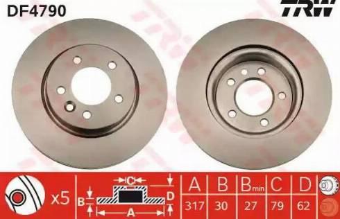 TRW DF4790 - Bremžu diski interparts.lv