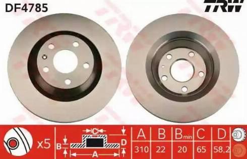 TRW DF4785 - Bremžu diski interparts.lv
