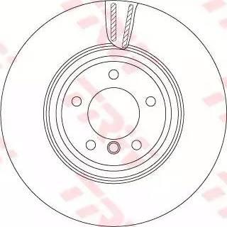 TRW DF4775S - Bremžu diski interparts.lv