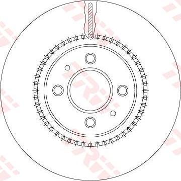 TRW DF6904 - Bremžu diski interparts.lv