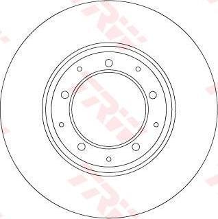 TRW DF6905 - Bremžu diski interparts.lv