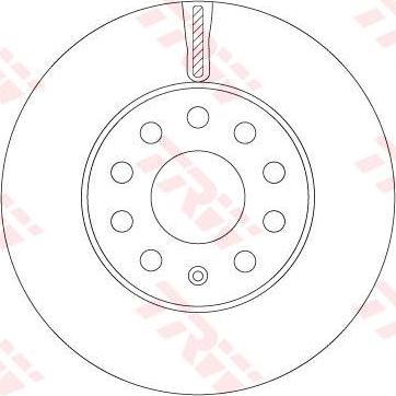TRW DF6903S - Bremžu diski interparts.lv