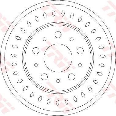 TRW DF6925S - Bremžu diski interparts.lv