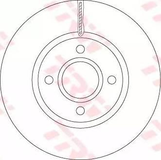 TRW DF6509 - Bremžu diski interparts.lv