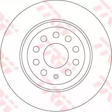 TRW DF6504 - Bremžu diski interparts.lv