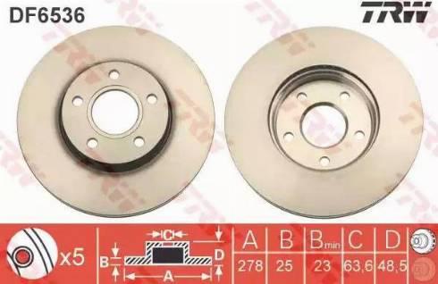 TRW DF6536 - Bremžu diski interparts.lv