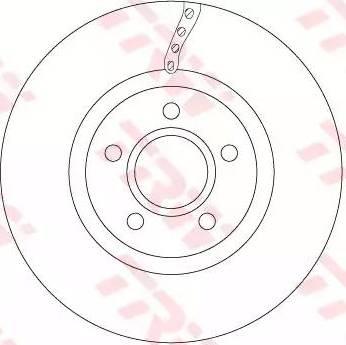 TRW DF6653 - Bremžu diski interparts.lv
