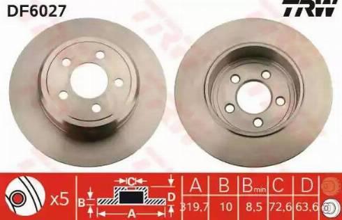 TRW DF6027 - Bremžu diski interparts.lv