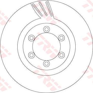 TRW DF6881 - Bremžu diski interparts.lv