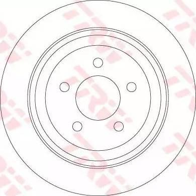 TRW DF6341 - Bremžu diski interparts.lv