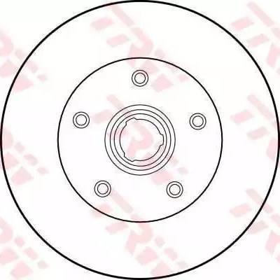 TRW DF1540 - Bremžu diski interparts.lv