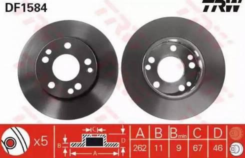 TRW DF1584 - Bremžu diski interparts.lv