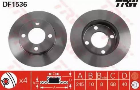 TRW DF1536 - Bremžu diski interparts.lv