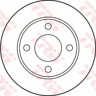 TRW DF1526 - Bremžu diski interparts.lv