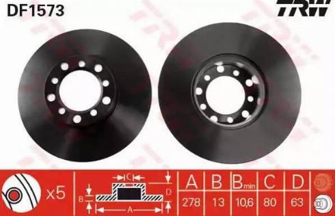 TRW DF1573 - Bremžu diski interparts.lv