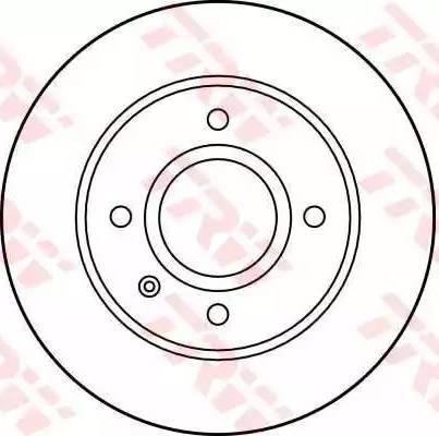 TRW DF1658 - Bremžu diski interparts.lv