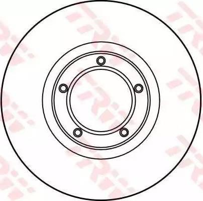 TRW DF1622 - Bremžu diski interparts.lv