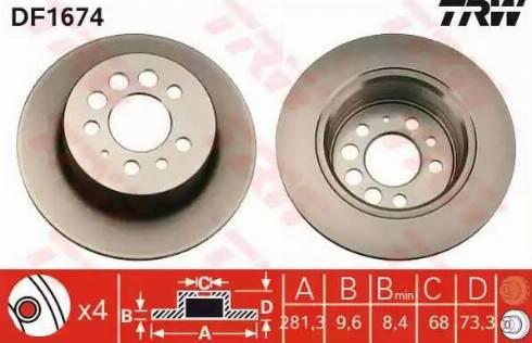 TRW DF1674 - Bremžu diski interparts.lv