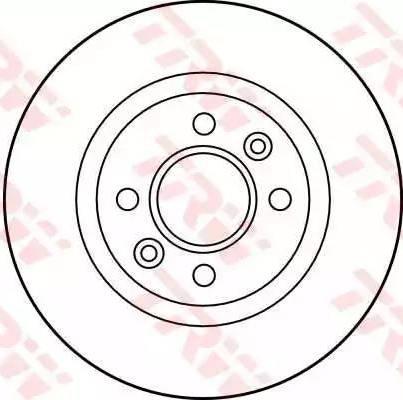 TRW DF1017 - Bremžu diski interparts.lv