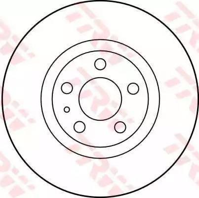 TRW DF1769 - Bremžu diski interparts.lv