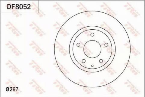 TRW DF8052 - Bremžu diski interparts.lv