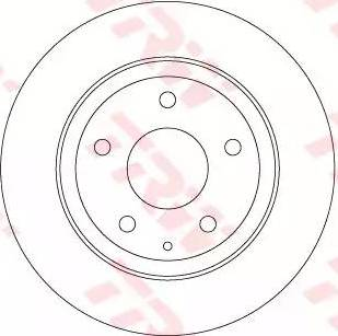TRW DF8115 - Bremžu diski interparts.lv