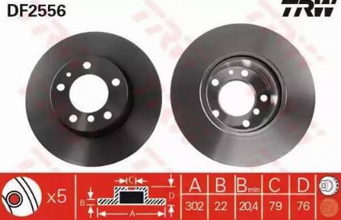 TRW DF2556 - Bremžu diski interparts.lv