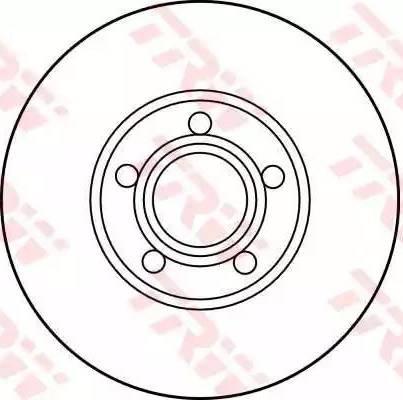 TRW DF2650 - Bremžu diski interparts.lv