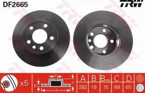 TRW DF2665 - Bremžu diski interparts.lv