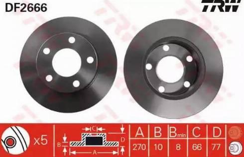 TRW DF2666 - Bremžu diski interparts.lv