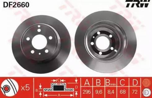 TRW DF2660 - Bremžu diski interparts.lv