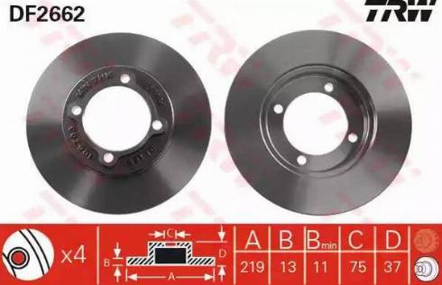 TRW DF2662 - Bremžu diski interparts.lv