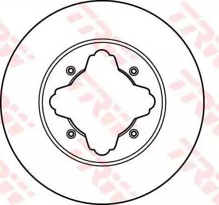 TRW DF2024 - Bremžu diski interparts.lv