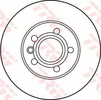 TRW DF2809 - Bremžu diski interparts.lv
