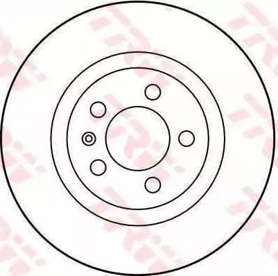 TRW DF2804 - Bremžu diski interparts.lv
