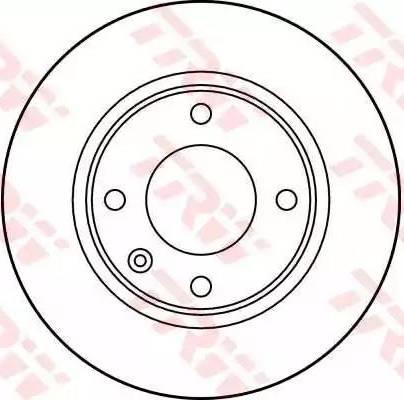 TRW DF2799 - Bremžu diski interparts.lv