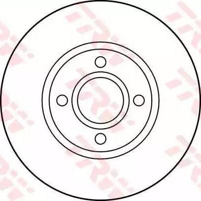 TRW DF2751 - Bremžu diski interparts.lv