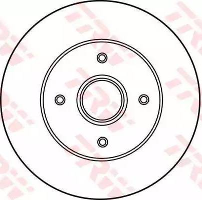 TRW DF2706 - Bremžu diski interparts.lv
