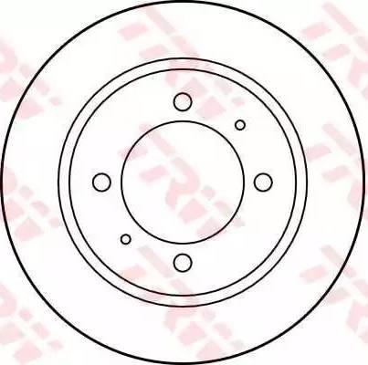 TRW DF2784 - Bremžu diski interparts.lv