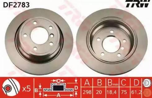 TRW DF2783 - Bremžu diski interparts.lv