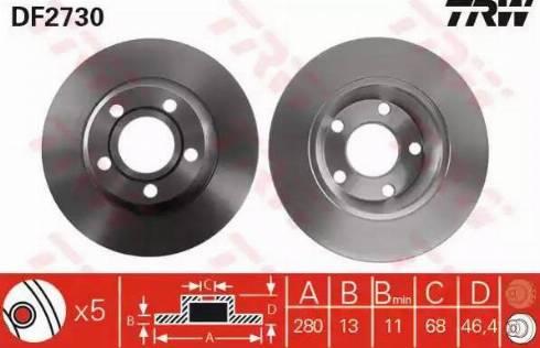 TRW DF2730 - Bremžu diski interparts.lv